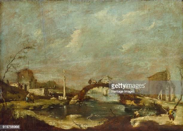 Capriccio Landscape mid 18th century Artist Francesco Guardi