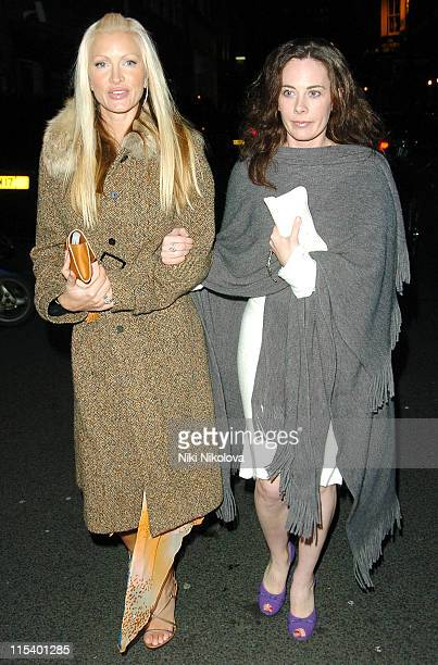 """Caprice and Guest during """"Derailed"""" London Premiere - Departures at Curzon Mayfair in London, Great Britain."""