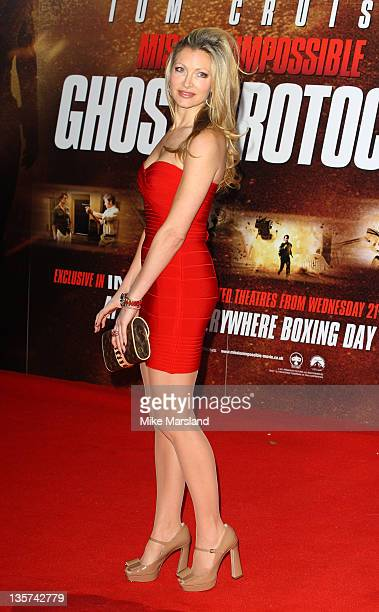 Caprice arrives at the UK prmeiere of Mission Impossible Ghost Protocol at BFI IMAX on December 13 2011 in London England