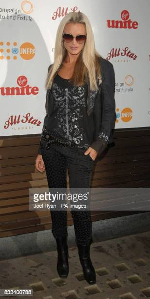 Caprice arrives at the Virgin Unite Fistula Fundraising Evening in All Star Lanes in Bayswater, central London.