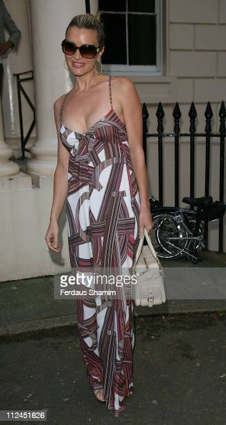 Caprice attends the launch of 'PoliticsAndTheCity.com' at ICA on July 8, 2008 in London, England.