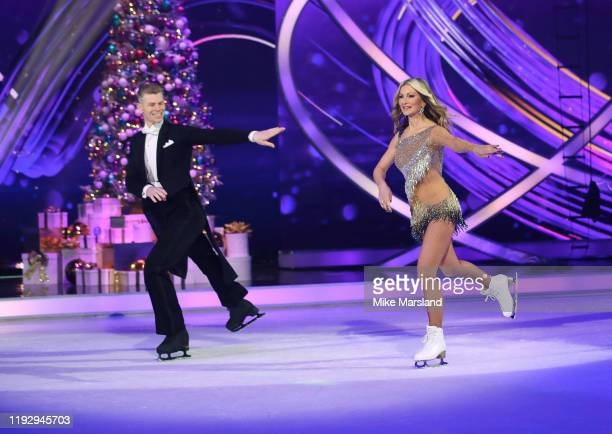 Caprice Bourret and Hamish Gaman during the Dancing On Ice 2019 photocall at ITV Studios on December 09 2019 in London England