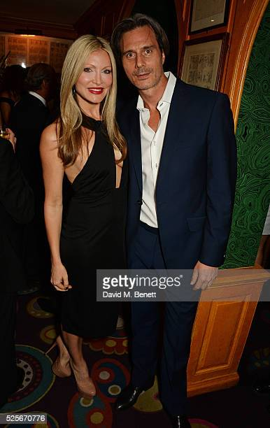Caprice Bourret and Ty Comfort attend a private dinner hosted by Fawaz Gruosi founder of de Grisogono at Annabels on April 28 2016 in London England