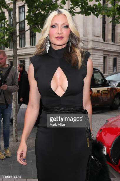 Caprice Bourret attending the Cash and Rocket Masquerade ball at the Victoria and Albert Museum on June 05 2019 in London England