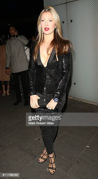 Caprice Bourret attending the JF London a/w1617 presentation and party at the W hotel on February 22 2016 in London England