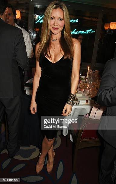 Caprice Bourret attends a private dinner hosted by Jeremy Morris and Lisa Tchenguiz to celebrate David Morris and Agent Provocateur at 34 Grosvenor...