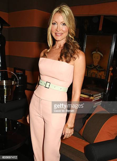 Caprice Bourret attends as Blakes hotel celebrates the launch of Blakes Below a luxury bar and lounge designed by Anouska Hempel on September 14 2016...