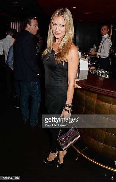 Caprice Bourret attends as Lauryn Hill performs at the Dover Street Arts Club on September 27 2014 in London England