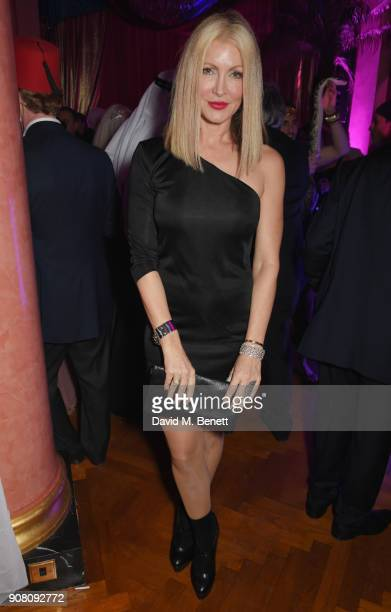 Caprice Bourret attends Lisa Tchenguiz's birthday party on January 20 2018 in London England
