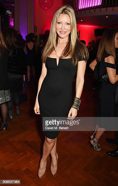Caprice Bourret attends Lisa Tchenguiz's birthday party on January 23 2016 in London England