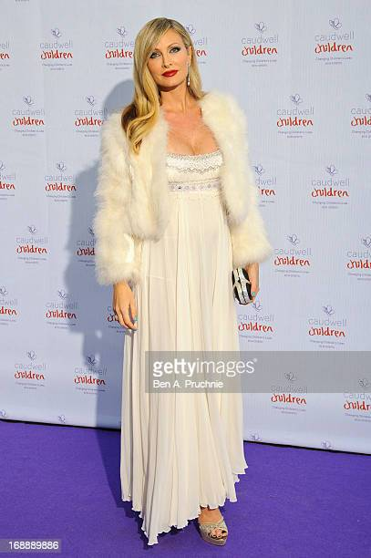Caprice Bourret attends The Butterfly Ball A Sensory Experience in aid of the Caudwell Children's charity at Battersea Evolution on May 16 2013 in...