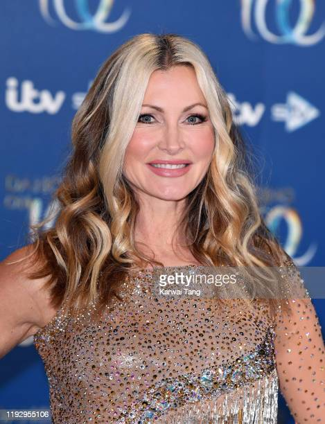 Caprice Bourret attends the Dancing On Ice 2019 photocall at the Dancing On Ice Studio ITV Studios Old Bovingdon Airfield on December 09 2019 in...