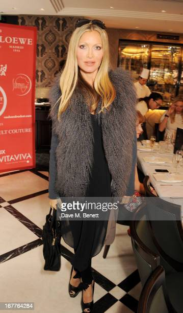 Caprice Bourret attends the launch of Cash Rocket in aid of the Rush to Zero campaign at Banca Restaurant on April 29 2013 in London England