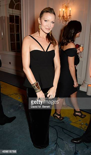 Caprice Bourret attends the Louis Dundas Centre Dinner at the Mandarin Oriental Hyde Park on November 26 2014 in London England