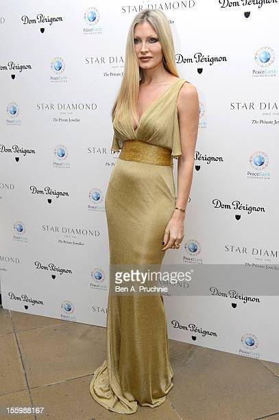 Caprice Bourret attends the PeaceEarth foundation fundraising gala at Banqueting House on November 10 2012 in London England