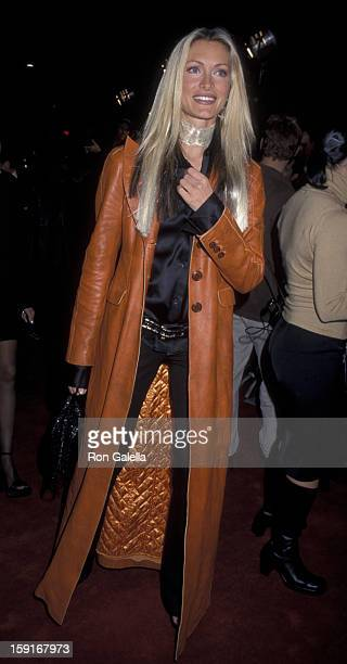 Caprice Bourret attends the world premiere of '13 Days' on December 12 2000 at Mann Village Theater in Westwood California