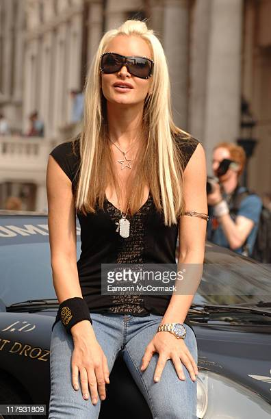 Caprice Bourret during Gumball 3000 Rally London Start at Pall Mall in London Great Britain