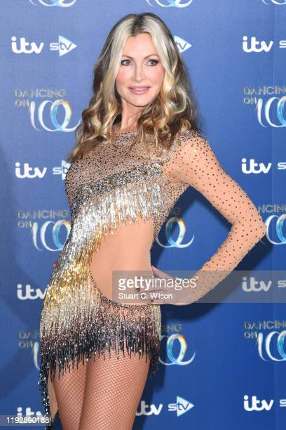 Caprice Bourret during the Dancing On Ice 2019 photocall at ITV Studios on December 09 2019 in London England