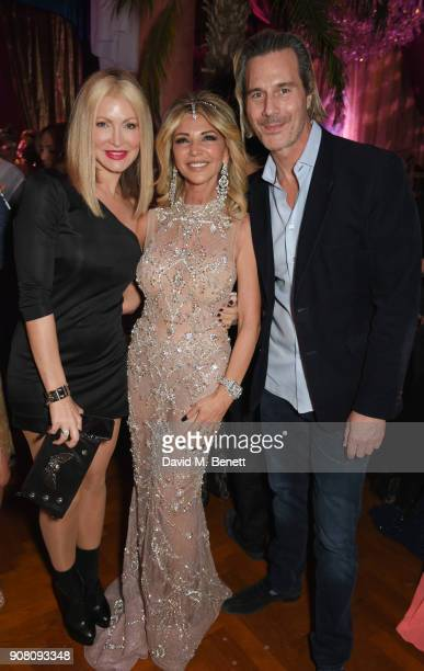 Caprice Bourret Lisa Tchenguiz and Ty Comfort attend Lisa Tchenguiz's birthday party on January 20 2018 in London England