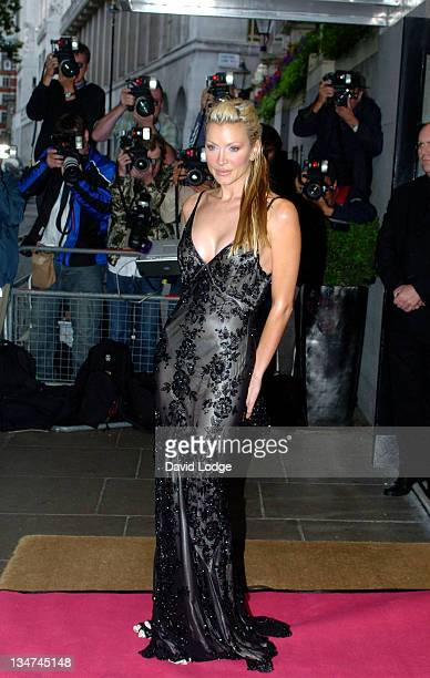 Caprice during Art in Fashion London July 1 2004 at The Savoy Hotel in London Great Britain