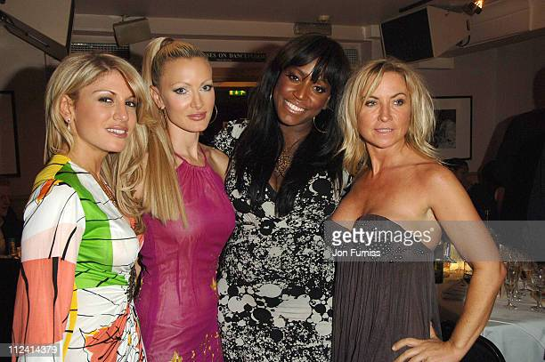 Caprice Hofit Golan Mica Paris and Meg Mathews during The Dover Street Dinner 2007 at Dover Street Restaurant and Bar in London May 15 2007 at Dover...