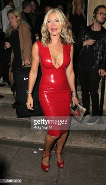 Caprice seen attending LFW s/s 2019 Julien Macdonald catwalk show afterparty at St John's Hyde Park during London Fashion Week September 2018 on...