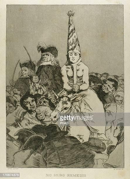 Capricho 24 No hubo remedio Aquatint Series Caprichos by Francisco de Goya 1799 Reproduction of M Segui
