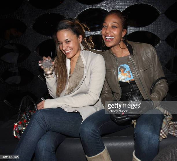 Capricorn and Sari Baez attend the 2008 IPR holiday party and birthday party for Tracy Nguyen at Mr West on December 17 2008 in New York City