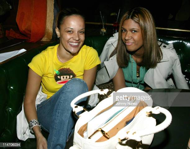 Capricorn Clark and Jeanette Dilone during Jamal Crawford's 25th Birthday Party at 58 in New York City New York United States