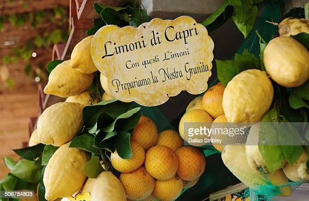 Capri's famous lemons at a granita stall