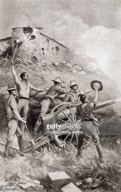 Capron's battery in action at The Battle of Las Guasimas Cuba June 24 the first land engagement of the Spanish–American War Captain Allyn K Capron...