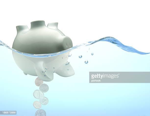Capsized Piggy Bank