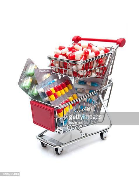 Kapseln in den Einkaufswagen