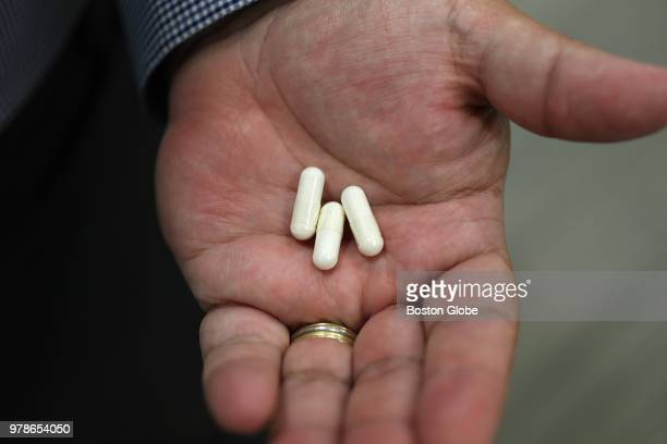 Capsules of bacteria are pictured at Vedanta Biosciences in Cambridge MA on June 13 2018 Vedanta is one of dozens of startups across the globe that...