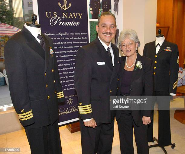 Capt Henry Conde and Kathy Self of Brooks Brothers