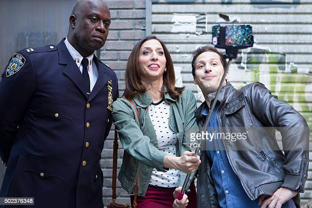 Capt Holt Gina and Jake in the The Oolong Slayer episode of BROOKLYN NINENINE airing Sunday Oct 18 on FOX