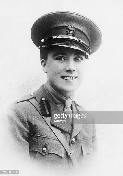 Captain A W Lamond who was awarded the Croix de Guerre for conspicuous bravery on the Western Front Circa April 1917