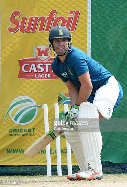 Captain AB De Villiers during the South African national cricket team training session at SuperSport Park on January 20 2016 in Pretoria South Africa