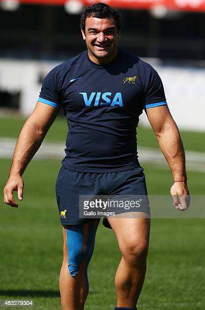Captain Agustin Creevy of Argentina during the Argentina captains run at Growthpoint Kings Park on August 07 2015 in Durban South Africa