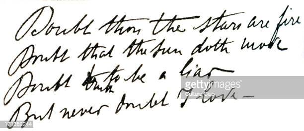 Captain Alfred Dreyfus diary quotation from Hamlet in his handwriting 'Doubt thou the stars are fireÖ' Falsely imprisoned 189599My Life on Devil's...
