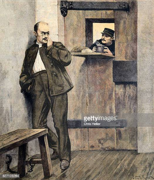Captain Alfred Dreyfus Imprisoned in the Penal Colony of Devil's Island French Guiana during the Dreyfus Affair