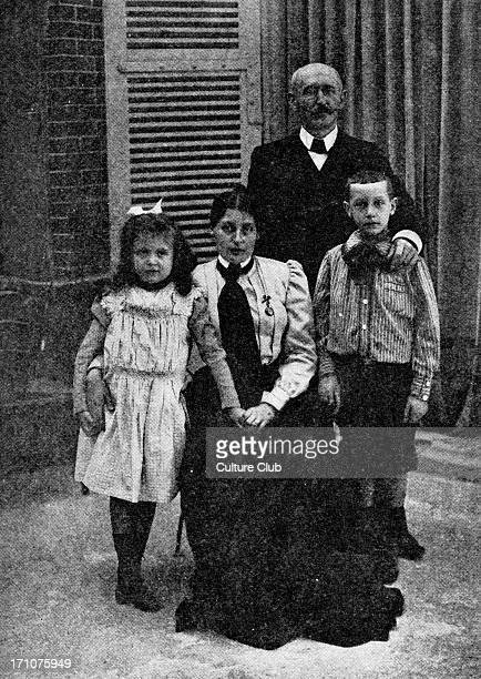 Captain Alfred Dreyfus with his wife and children from photo by Gerschel Boulevard des Capucines ParisFalsely imprisoned 189599My Life on Devil's...