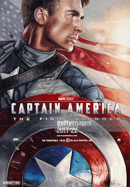 captain america: the first avenger - movie poster - movie poster stock photos and pictures