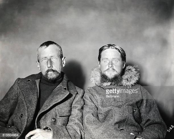 Captain Amundsen and Lieutenant Hansen during their stay in Alaska 1906