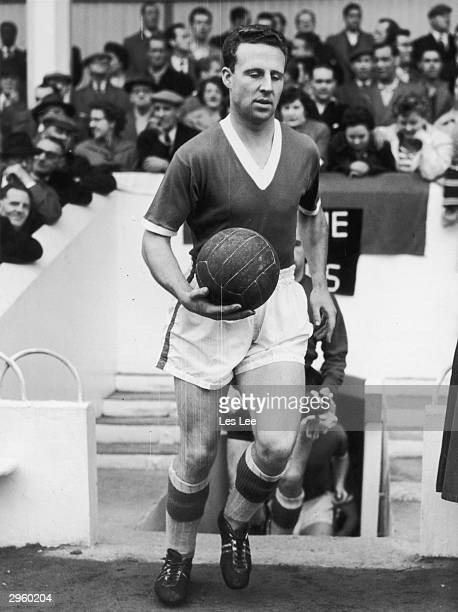 Captain and centrehalf of Everton FC Tom Jones October 1958