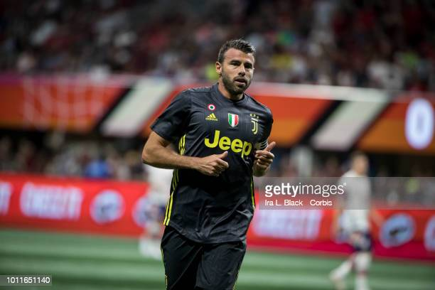 Captain Andrea Barzagli of Juventus during the MLS All Star soccer match between Major League Soccer All Stars and Juventus FC at the Mercedes Benz...