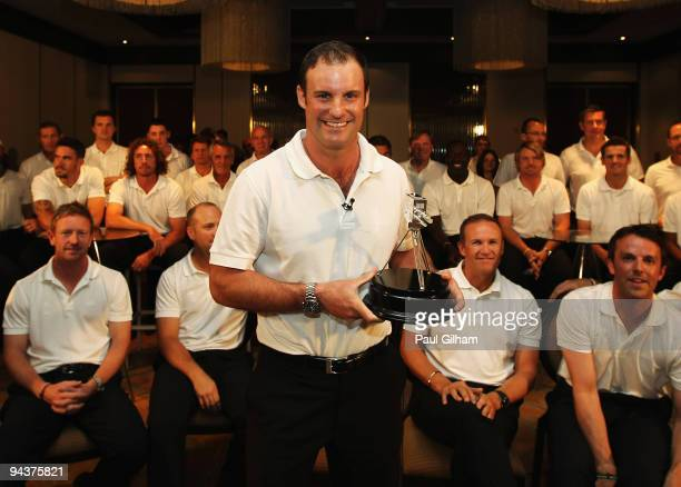 Captain, Andrew Strauss of England receives the BBC Sports Personality Team of Year Award on behalf of the England Ashes winning team, at the team...