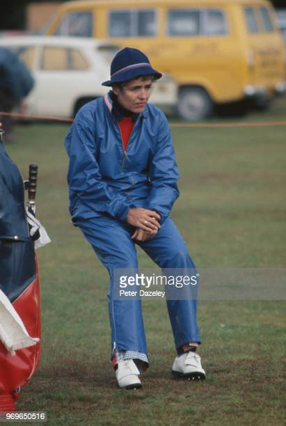 Captain Barbara McIntire sits down during the Curtis Cup during August 1976 in Lytham St Annes Lancashire England