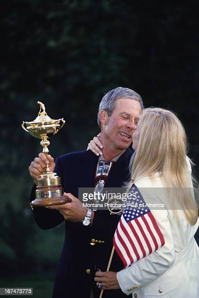 Captain Ben and Julie Crenshaw at the 33rd Ryder Cup Matches held at The Country Club in Brookline Massachusetts Sunday September 26 1999