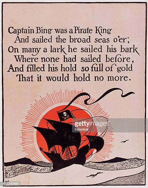 'Captain Bing Was a Pirate King' Poem Illustration by W W Denslow From L Frank Baum's Father Goose His Book